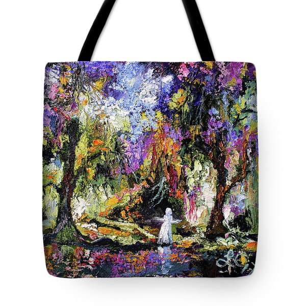Savannah Georgia Bird Girl Modern Impressionist Tote Bag