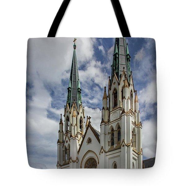 Savannah Historic Cathedral Tote Bag