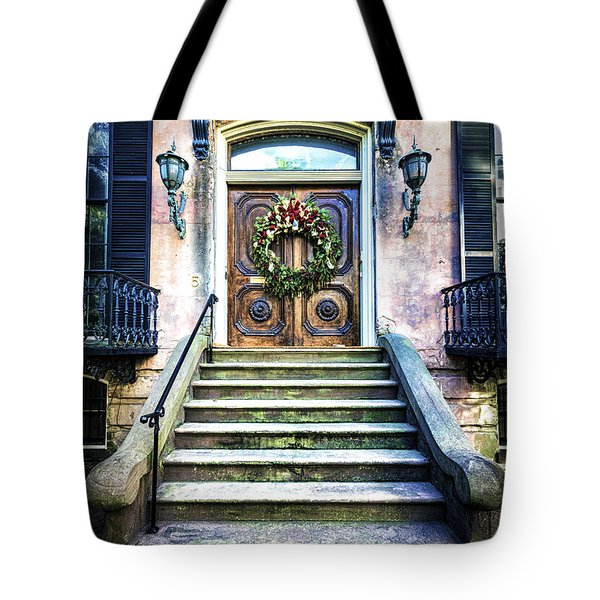 Tote Bag featuring the photograph Savannah House 5 by Anthony Baatz