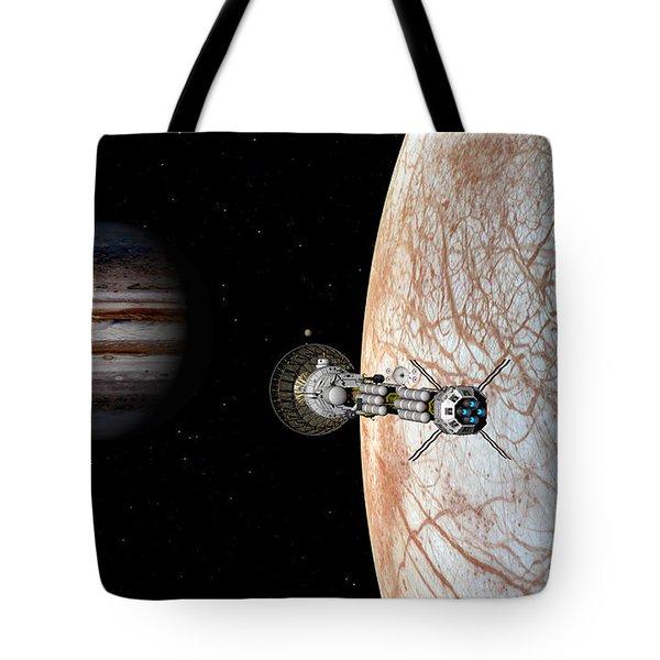 Tote Bag featuring the digital art Savannah Leaving Europa by David Robinson