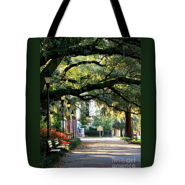 Savannah Park Sidewalk Tote Bag