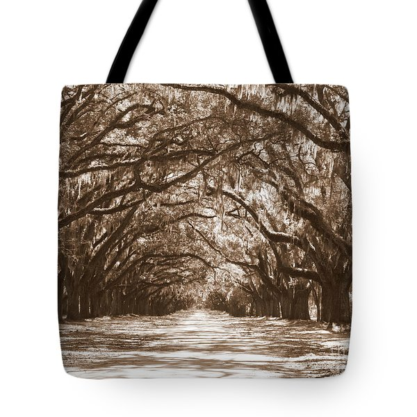 Savannah Sepia - Glorious Oaks Tote Bag