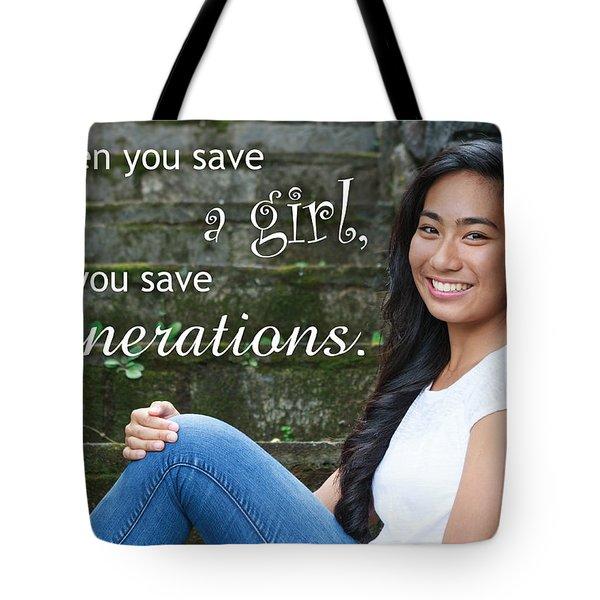 Save A Girl Tote Bag