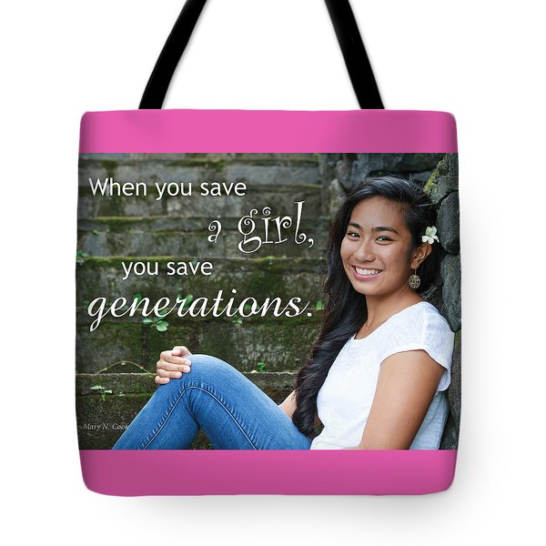 Save A Girl Tote Bag