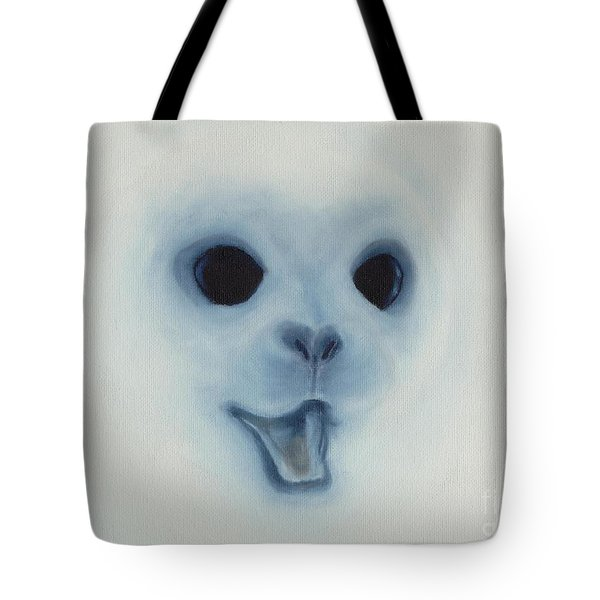 Tote Bag featuring the painting Save The Baby Seals by Annemeet Hasidi- van der Leij