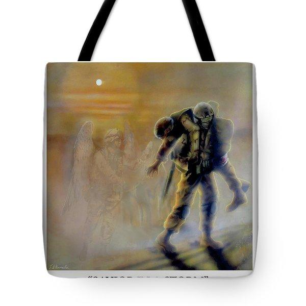 Savior In A Storm Tote Bag by Todd Krasovetz