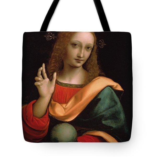 Saviour Of The World Tote Bag by Giovanni Pedrini Giampietrino