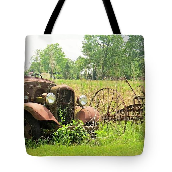Tote Bag featuring the photograph Saw Better Days by Jeanette Oberholtzer