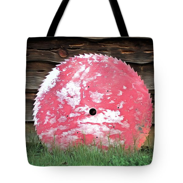 Saw Blade Tote Bag by Marion Johnson