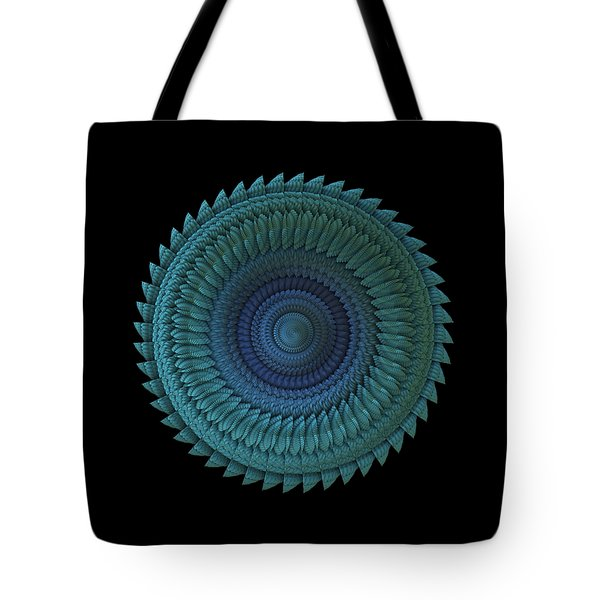 Tote Bag featuring the digital art Sawblade by Lyle Hatch