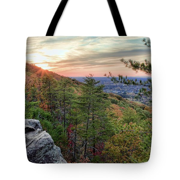 Sawnee Mountain And The Indian Seats Tote Bag