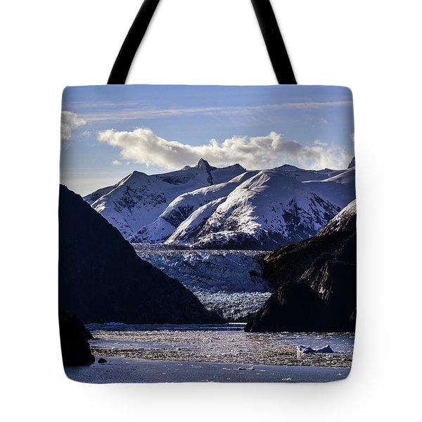 Sawyer Glacier In Tracy Arm Fjord Tote Bag