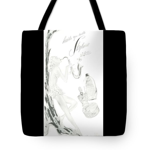 Tote Bag featuring the digital art Sax Girl by ReInVintaged