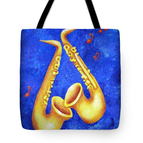 Sax Sex Tote Bag by Pamela Allegretto