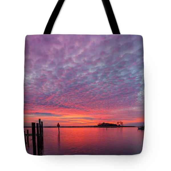 Saxis Sunset Tote Bag by David Cote
