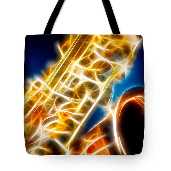 Saxophone 2 Tote Bag by Hakon Soreide