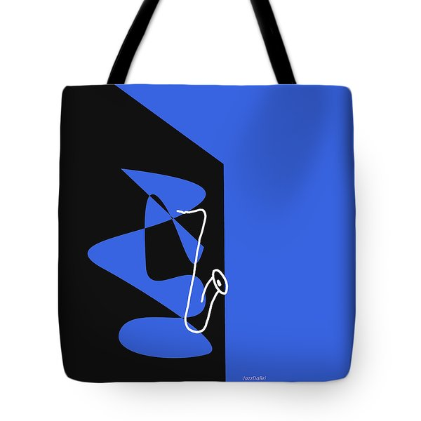 Saxophone In Blue Tote Bag