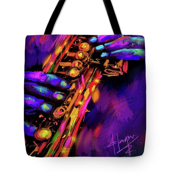 Saxy Hands Tote Bag