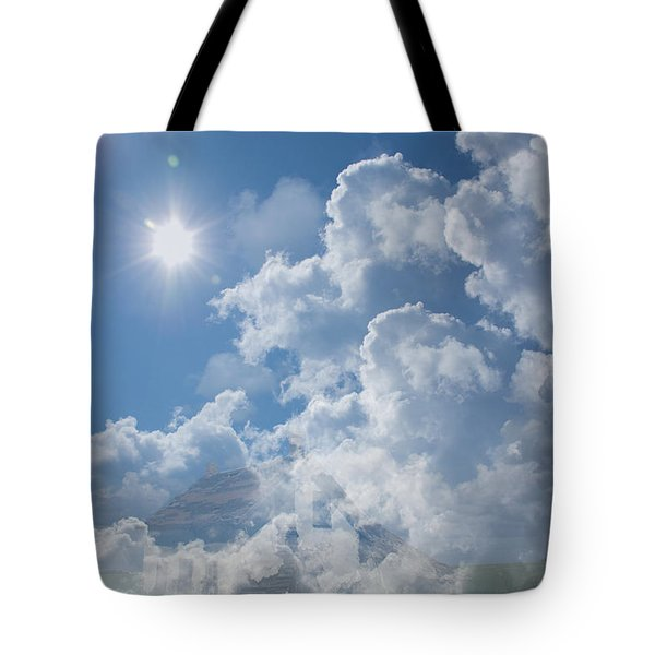 Sayers Homestead In The Clouds Tote Bag by Ellery Russell