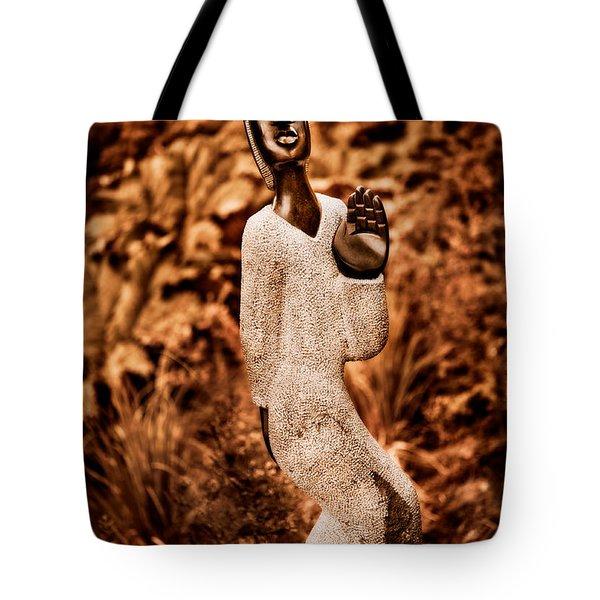Saying Goodbye Tote Bag by Venetta Archer