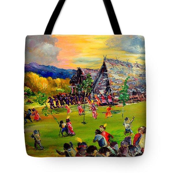 Tote Bag featuring the painting Sbiah Baah by Jason Sentuf