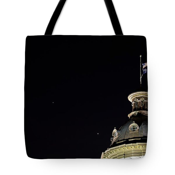Sc State House Dome And Conjunction Tote Bag