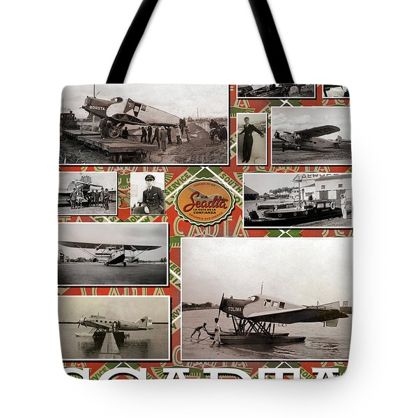 Tote Bag featuring the photograph Scadta Airline Poster by Jeff Phillippi