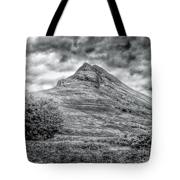 Scafell Pike In Greyscale Tote Bag