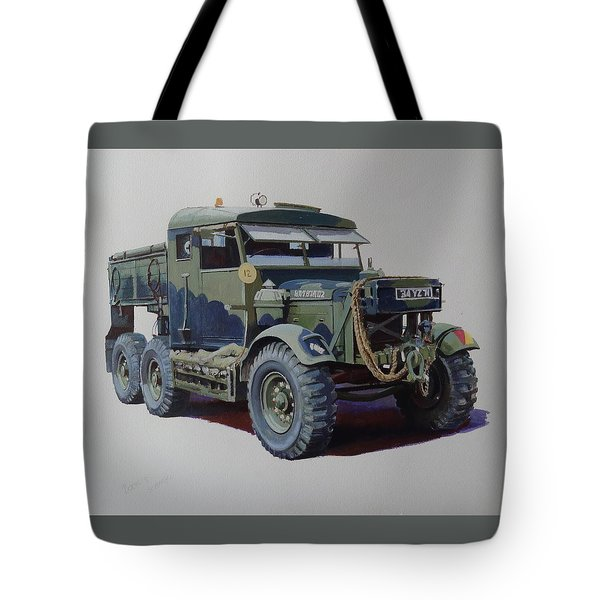 Scammell Pioneer Wrecker. Tote Bag by Mike  Jeffries