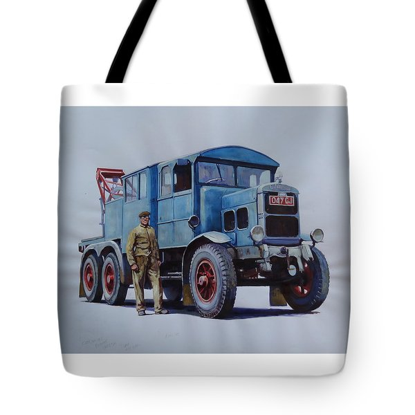 Scammell Wrecker. Tote Bag by Mike Jeffries