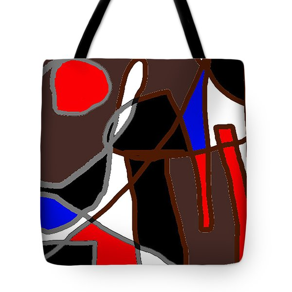 Scandal In Bohemia Original Abstract Expressionism Art Painting Tote Bag