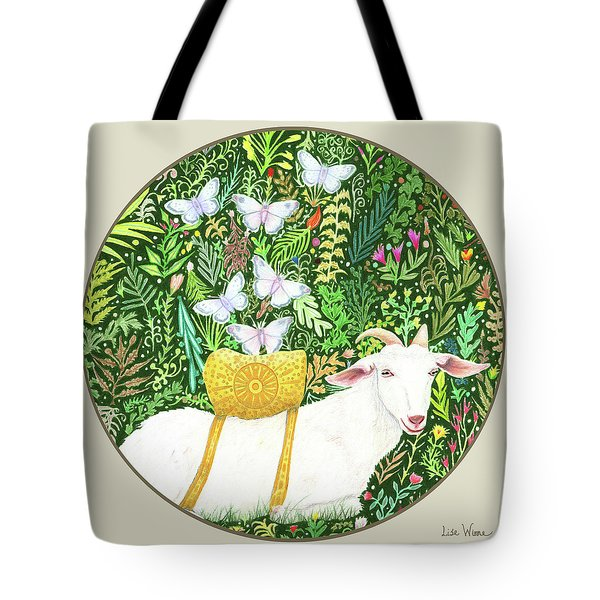 Scapegoat Button Tote Bag