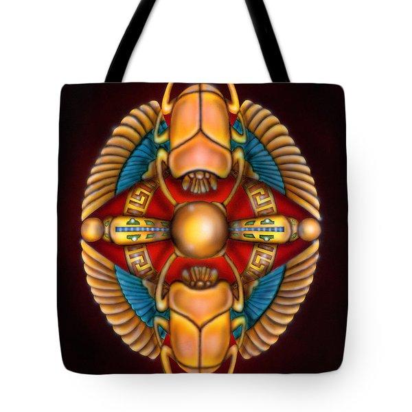 Scarab Beetle Design Tote Bag