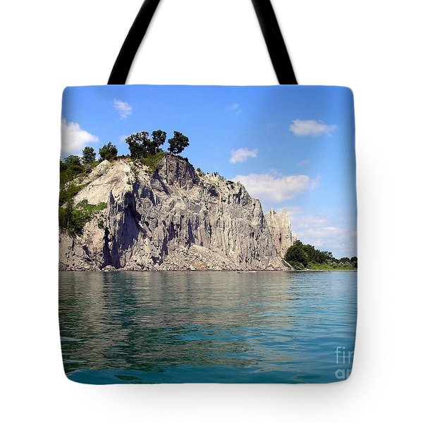 Tote Bag featuring the photograph Scarborough Bluffs-lake View by Susan  Dimitrakopoulos