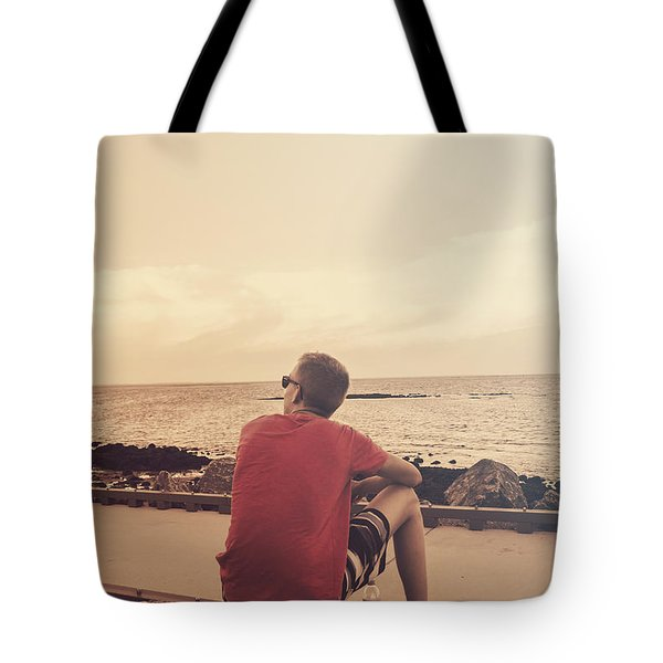 Tote Bag featuring the photograph Scarborough Jetty Sunset by Jorgo Photography - Wall Art Gallery