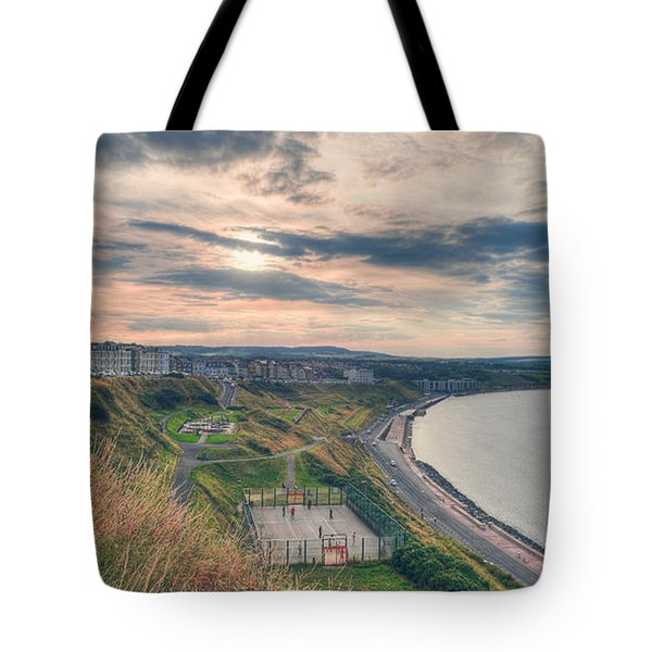 Tote Bag featuring the photograph Scarborough North Bay by Ray Devlin