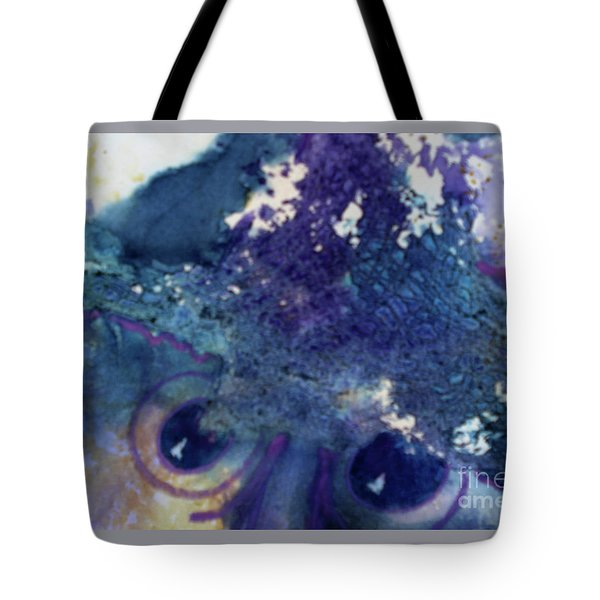 Tote Bag featuring the painting Scarecrow Eyes by Kathy Braud