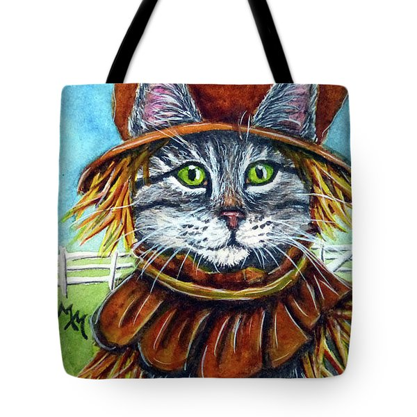 Scarecrow Tabby Tote Bag