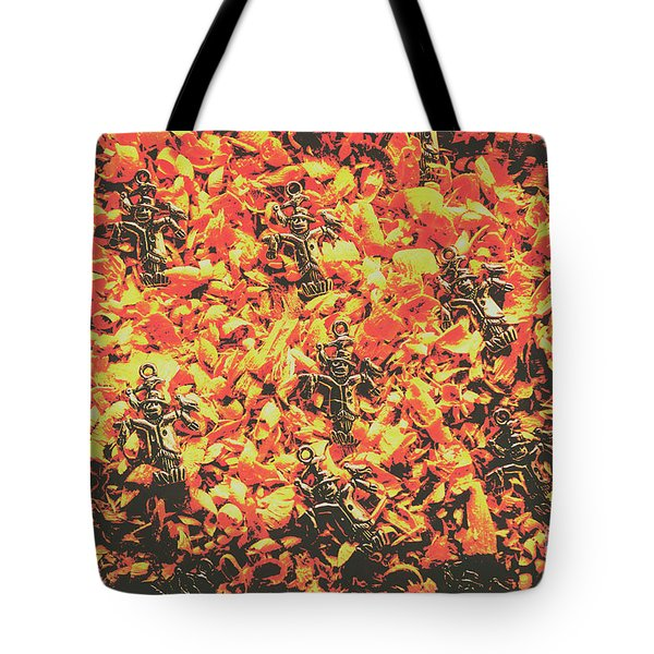 Scarecrows From Fires Burn  Tote Bag