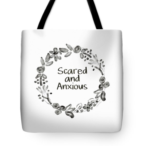 Scared And Anxious- Art By Linda Woods Tote Bag