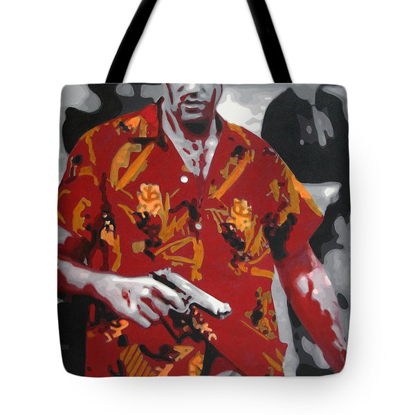 Scarface 2013 Tote Bag by Luis Ludzska