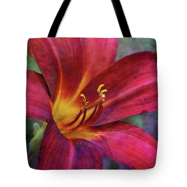 Scarlet And Gold Dust 3716 Idp_2 Tote Bag