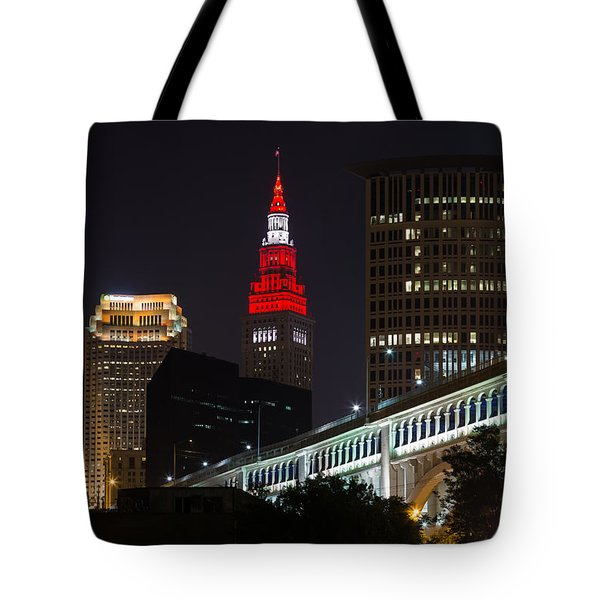 Scarlet And Gray Tote Bag