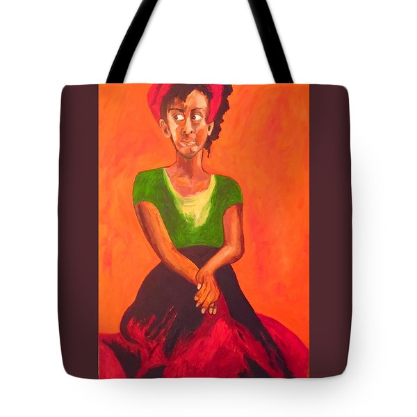 Tote Bag featuring the painting Scarlet by Esther Newman-Cohen