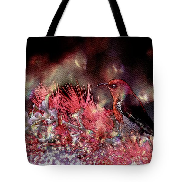 Scarlet Honeyeater Tote Bag by Ericamaxine Price