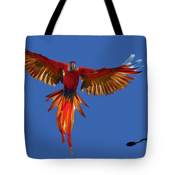 Scarlet Macaw On The Osa Peninsula Tote Bag