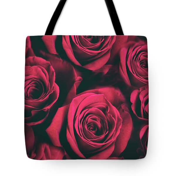 Tote Bag featuring the photograph Scarlet Roses by Jessica Jenney