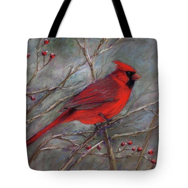 Scarlet Sentinel Tote Bag