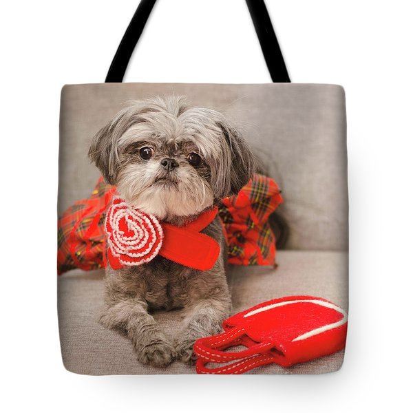 Tote Bag featuring the photograph Scarlett And Red Purse by Irina ArchAngelSkaya