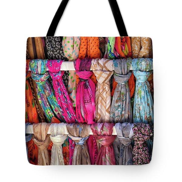 Scarves In Mykonos Tote Bag